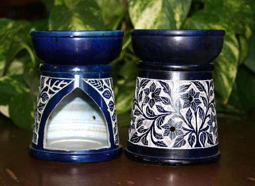 Etched Soapstone Aroma Diffusers from India