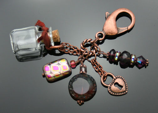 copper aromatherapy fob