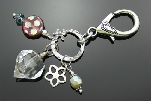 aromatherapy fob or purse jewelry