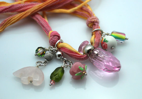 aromatherapy jewelry with mini-bottle pendants and charms