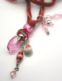 aromatherapy necklace with mini-perfume bottle