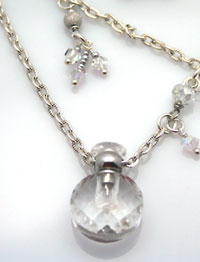sophisticated aromatherapy necklace on a sterling silver chain
