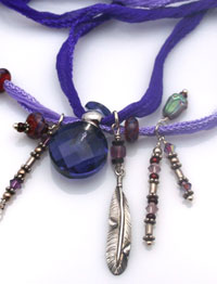 purple and red passion aromatherapy necklace