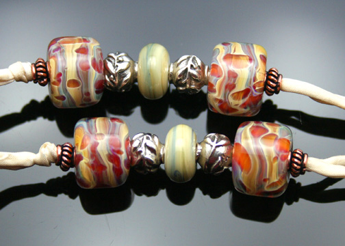 Close-up of aromatherapy necklace beads
