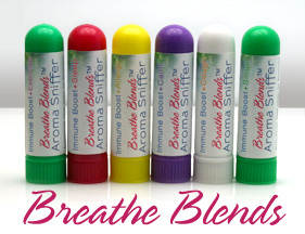 Aromatherapy Inhalers by Breathe Blends Inc -- for physical and emotional health and well-being.