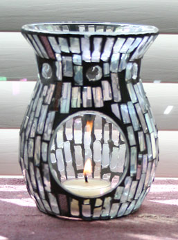 Lovely Clear, Opalescent Mosaic Glass Aromatherapy Diffuser
