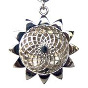 Shining Sun Aromatherapy Pendant with Chain: Sterling Silver