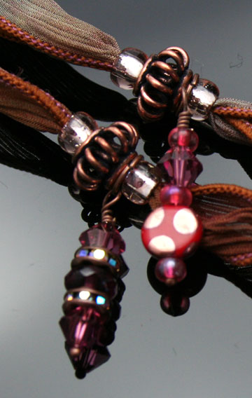 close-up of dangles