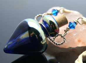 Lampwork glass aromatherapy jewelry