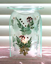 Photo of our very pretty Pressed Flowers aromatherapy diffuser