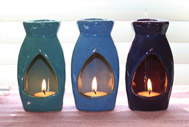 Hand-made ceramic aromatherapy candle diffusers