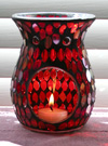 Photo of our exotic Red Petals glass aromatherapy diffuser
